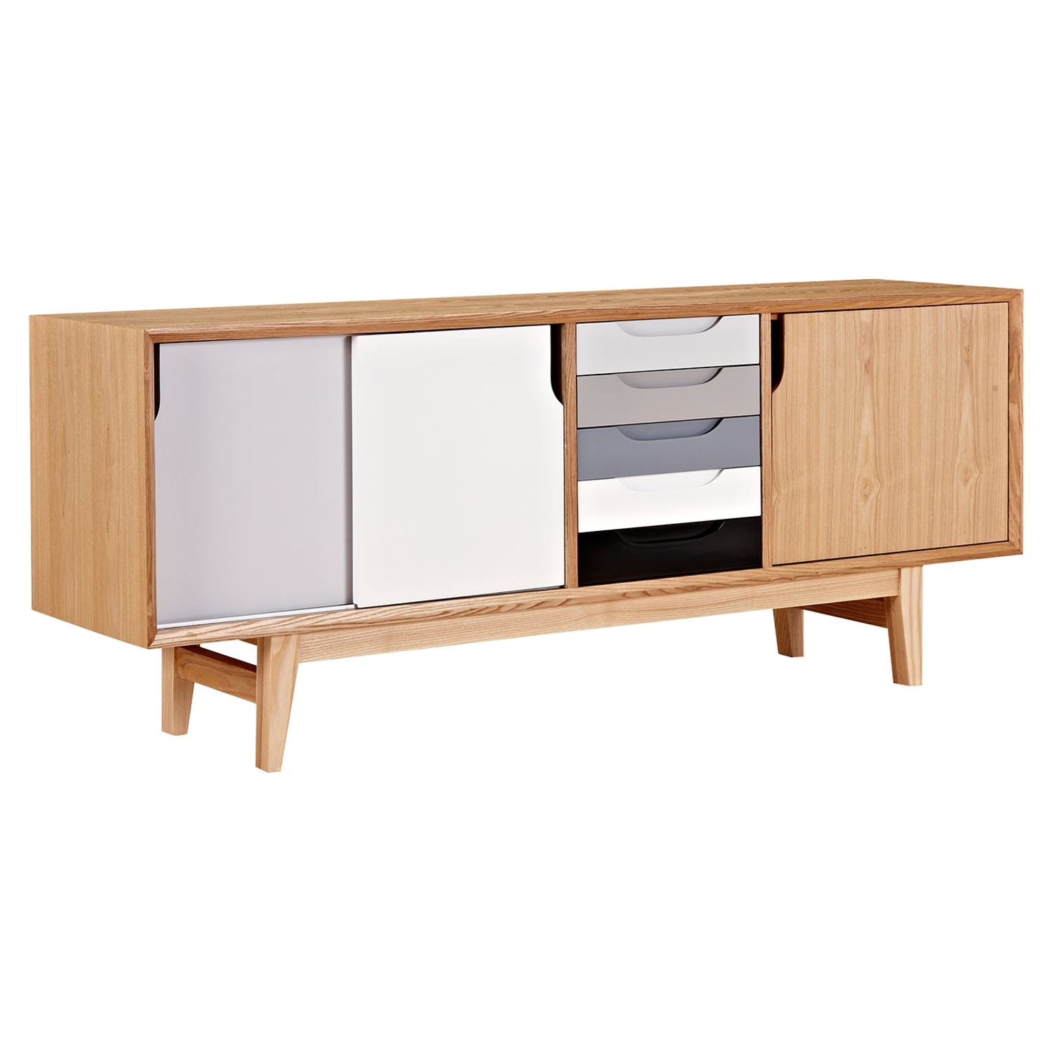 Kelda Sideboard Gray - Natural