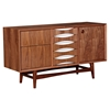 Hanna Sideboard - Walnut and White
