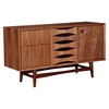 Hanna Sideboard - Walnut and Black