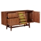 Hanna Sideboard - Walnut and Green - NYEK-224421-C