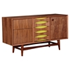Hanna Sideboard - Walnut and Green