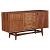 Hanna Sideboard - Walnut and Metallic Brass