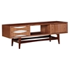 Hanna Media Unit - Walnut and White