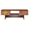Hanna Media Unit - Walnut and Green