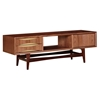 Hanna Media Unit - Walnut and Metallic Brass