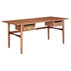 Hanna Office Desk - Walnut and Green