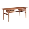 Hanna Office Desk - Walnut and Metallic Brass