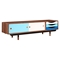 Soren Media Unit - Walnut and Blue - NYEK-224428-A