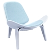 Shell Accent Chair - Glacier Blue