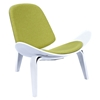 Shell Accent Chair - Avocado Green
