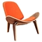 Shell Accent Chair - Retro Orange - NYEK-224433