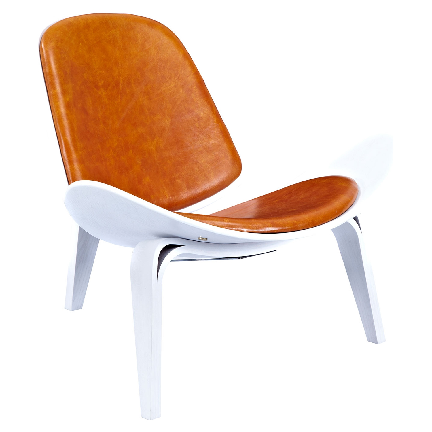 Shell Accent Chair - Burnt Orange