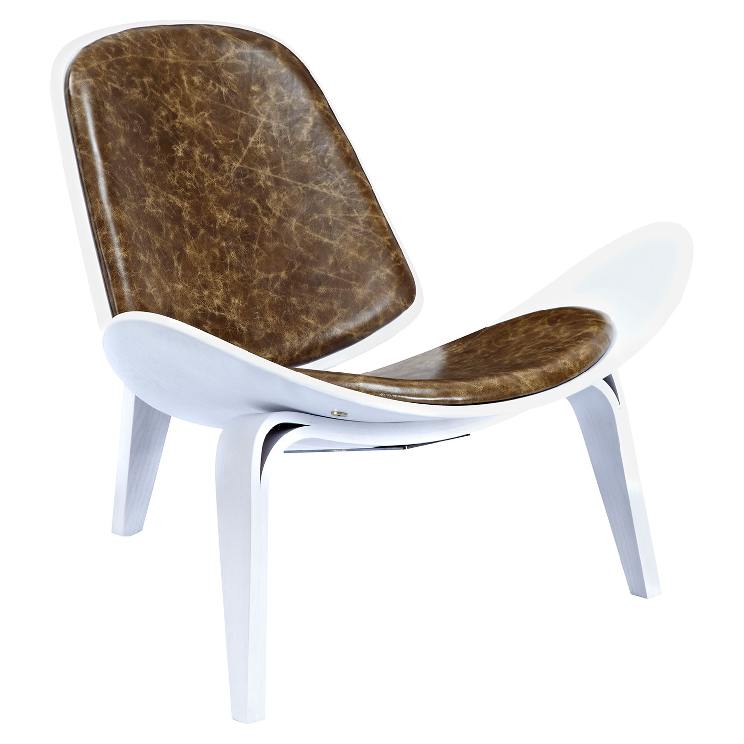 Shell Accent Chair - Plaermo Olive