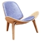 Shell Accent Chair - Weathered Blue - NYEK-224442
