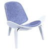 Shell Accent Chair - Weathered Blue