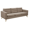 Mina Sofa - Light Sand, Tufted