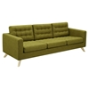 Mina Sofa - Avocado Green, Tufted