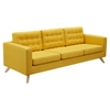 Mina Sofa - Papaya Yellow, Tufted