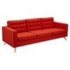 Mina Sofa - Retro Orange, Tufted