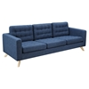 Mina Sofa - Stone Blue, Tufted