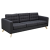 Mina Sofa - Charcoal Gray, Tufted