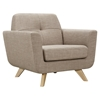 Dania Tufted Upholstery Armchair - Light Sand