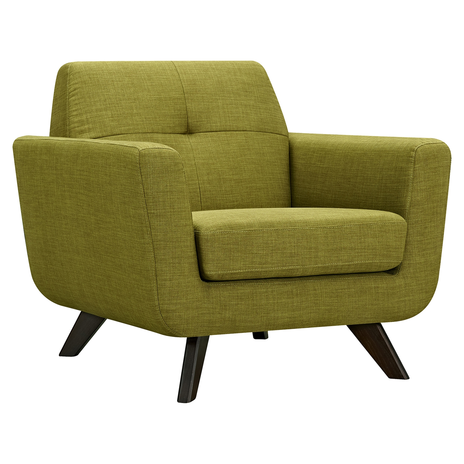 Dania Tufted Upholstery Armchair - Avocado Green - NYEK-224464