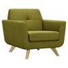 Dania Tufted Upholstery Armchair - Avocado Green
