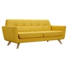 Dania Tufted Upholstery Sofa - Papaya Yellow