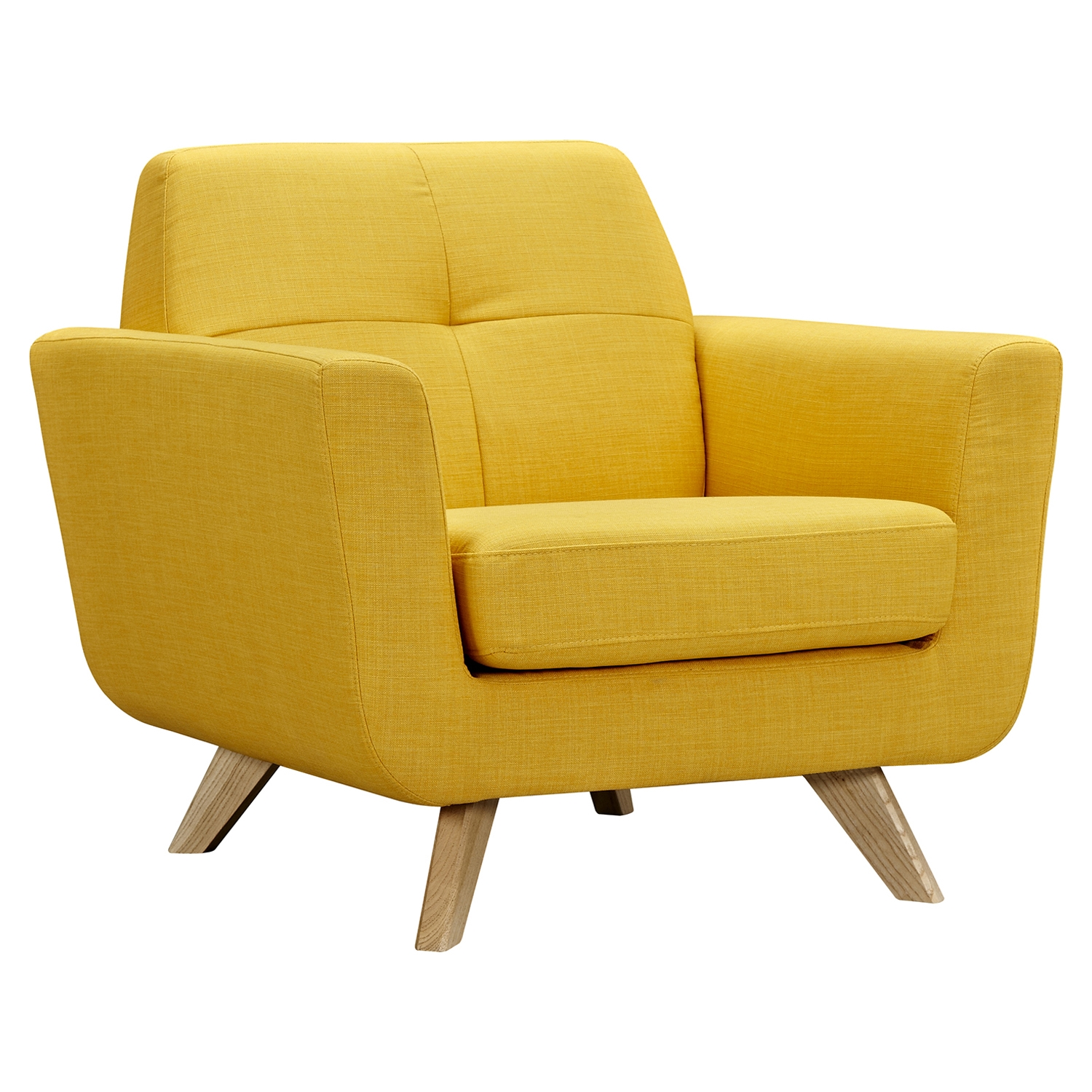 Dania Tufted Upholstery Armchair - Papaya Yellow