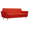 Dania Tufted Upholstery Sofa - Retro Orange