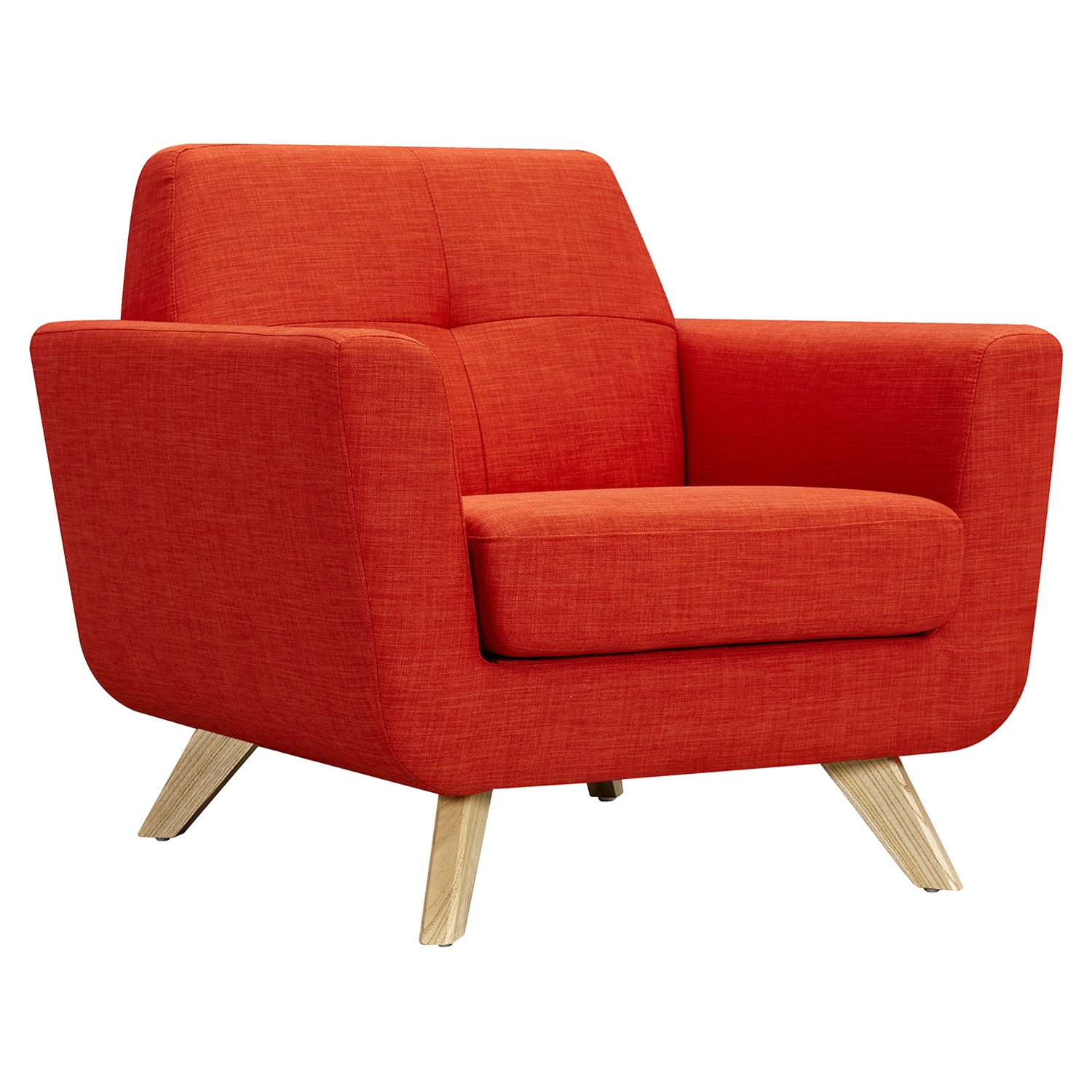 Dania Tufted Upholstery Armchair - Retro Orange