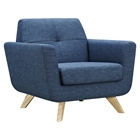 Dania Tufted Upholstery Armchair - Stone Blue
