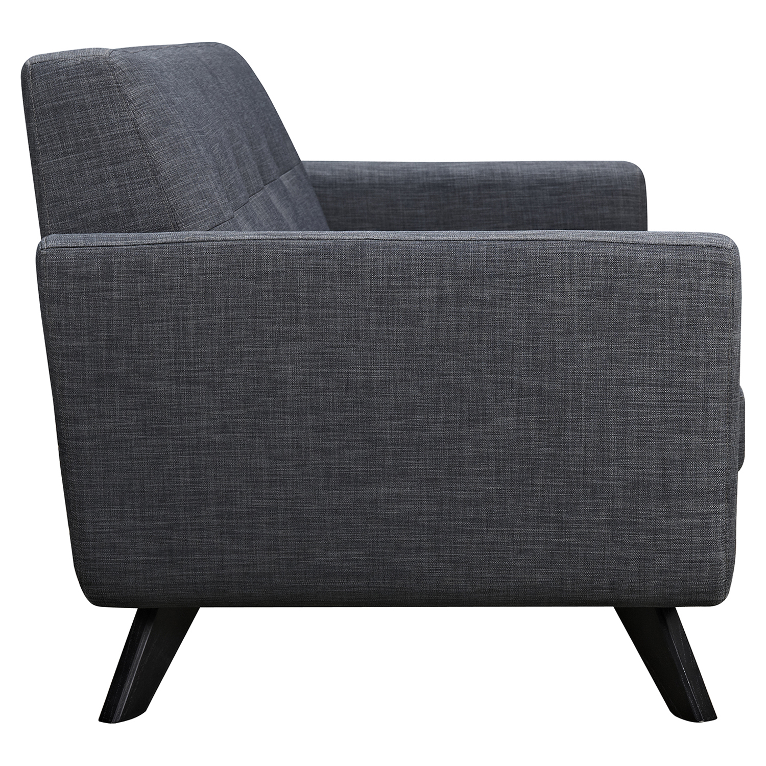 Dania Tufted Upholstery Sofa - Charcoal Gray - NYEK-224471