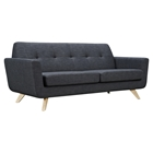 Dania Tufted Upholstery Sofa - Charcoal Gray