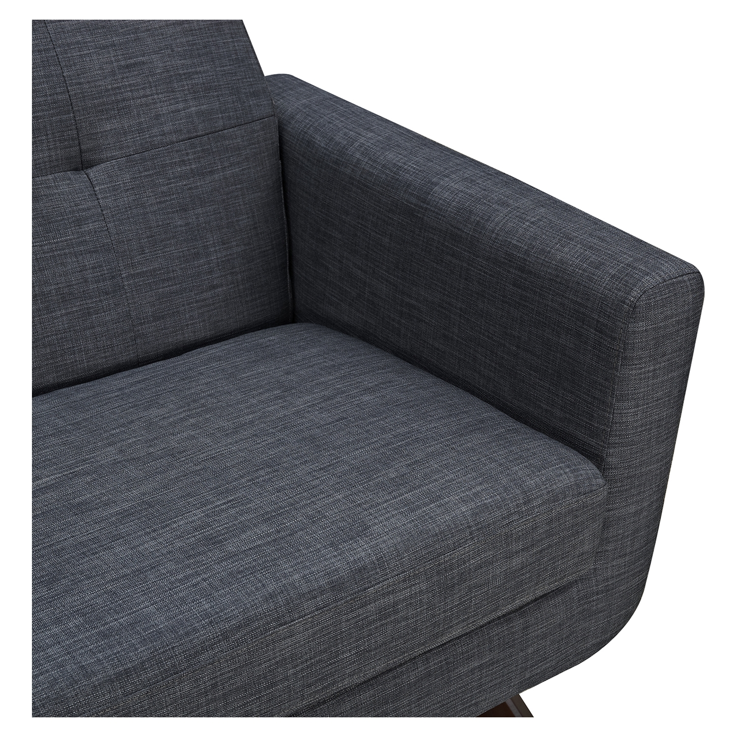 Dania Tufted Upholstery Armchair - Charcoal Gray - NYEK-224472