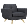 Dania Tufted Upholstery Armchair - Charcoal Gray