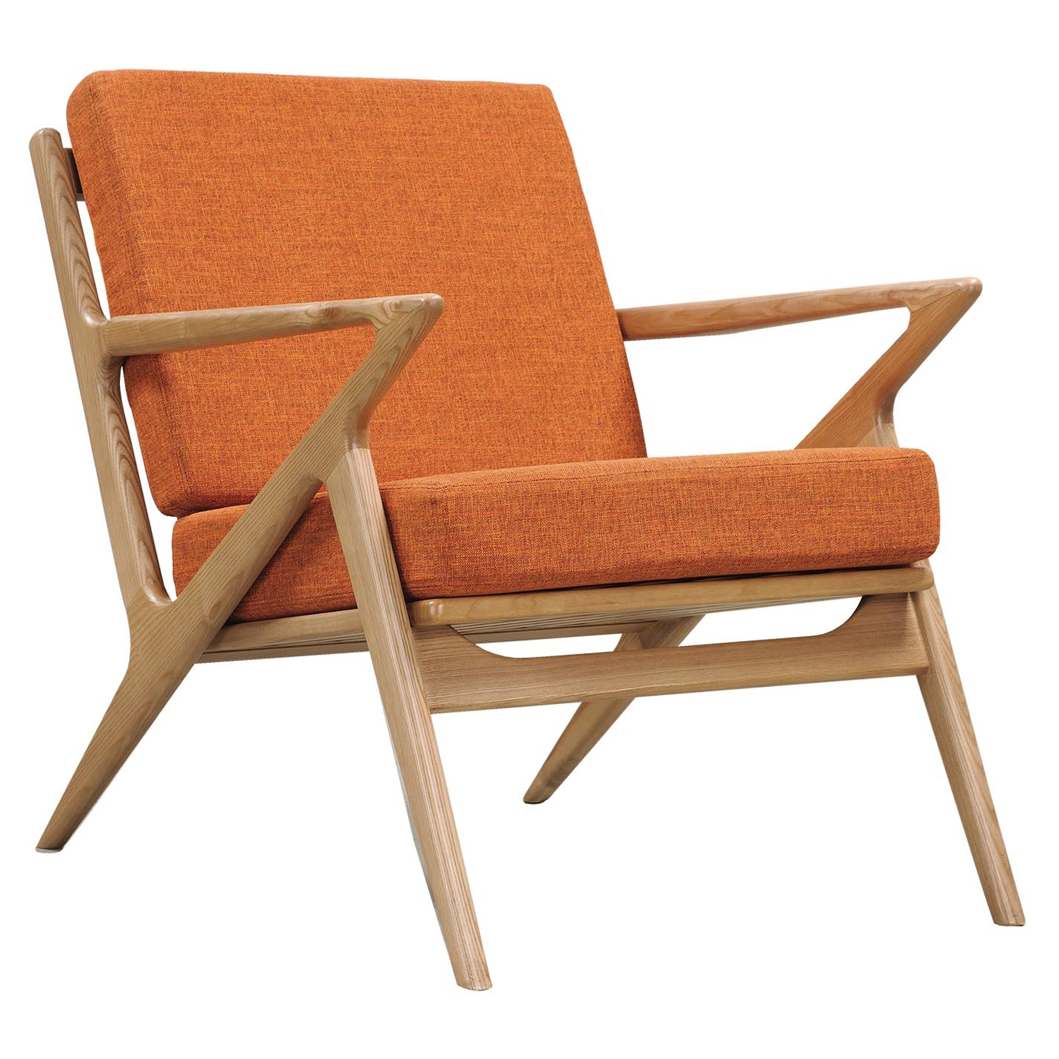 Zain Armchair - Burnt Orange