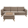 Mina Sofa Set - Light Sand, Tufted