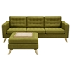Mina Sofa Set - Avocado Green, Tufted