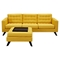 Mina Sofa Set - Papaya Yellow, Tufted - NYEK-224483