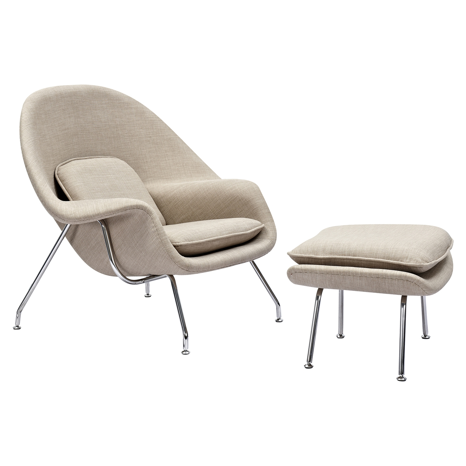 Saro Upholstered Chair - Light Sand