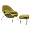 Saro Upholstered Chair - Avocado Green