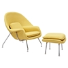 Saro Upholstered Chair - Papaya Yellow