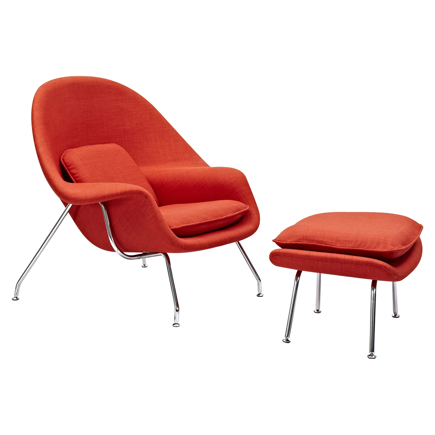 Saro Upholstered Chair - Lava Red