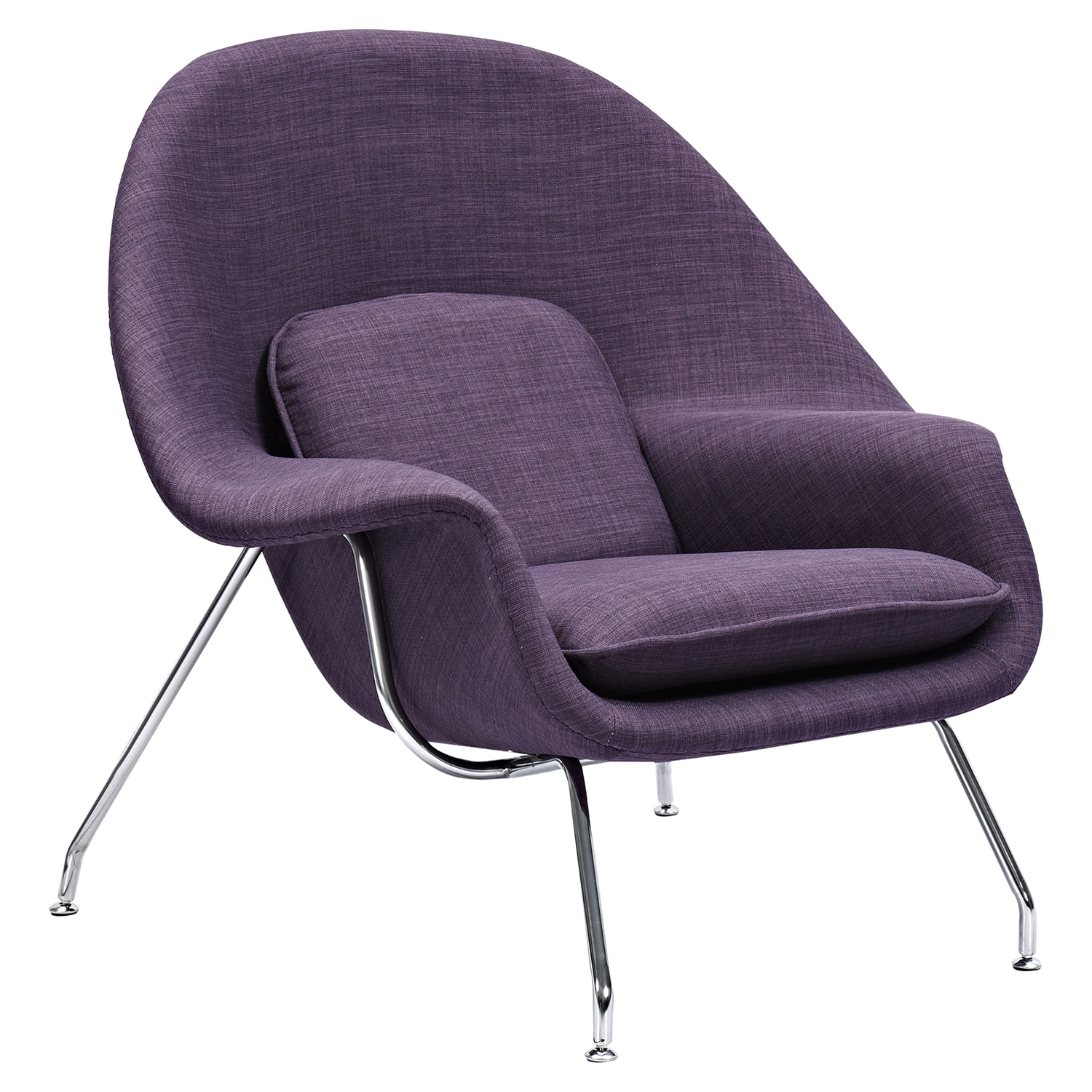 Saro Upholstered Chair - Plum Purple - NYEK-225506