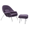 Saro Upholstered Chair - Plum Purple