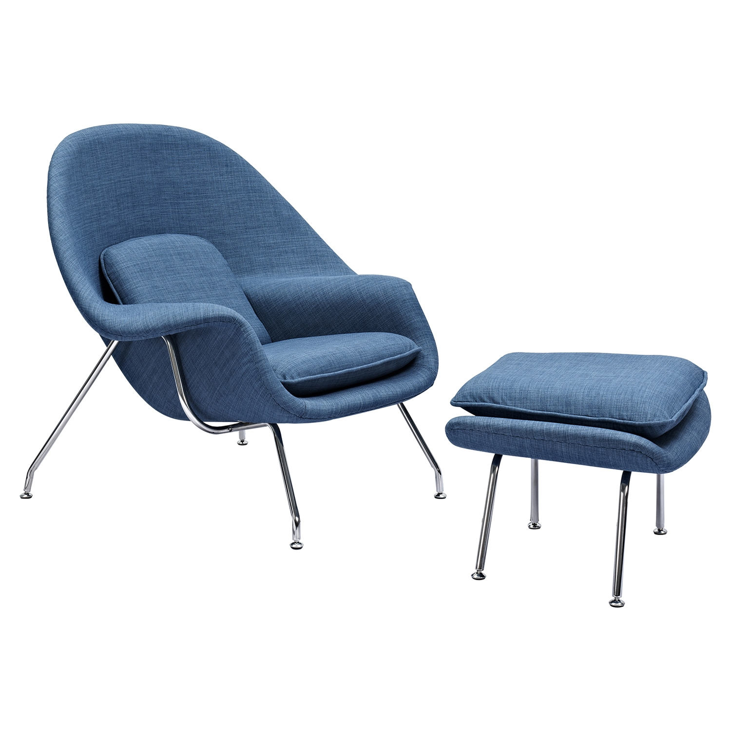 Saro Upholstered Chair - Dodger Blue