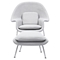 Saro Upholstered Chair - Glacier White - NYEK-225509