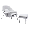 Saro Upholstered Chair - Glacier White